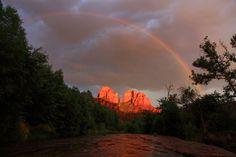 Rainbow over Cathedral Rock in Sedona, Arizona  Trevor Gass @Smithsonian Magazine
