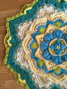 Mandala madness cal my work- helen shrimpton's of crystals and crochet pattern mandalas tejidas, Crochet Mandala Pattern, Crochet Circles, Crochet Squares, Crochet Granny, Crochet Blanket Patterns, Knit Crochet, Knitting Patterns, Granny Squares, Crochet Doilies