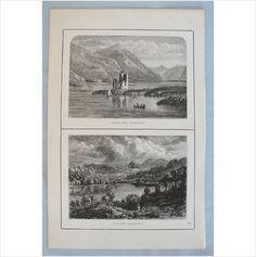Antique Scottish Print - Ardvraick Castle / Loch Arkaig - Circa 1880's on eBid United Kingdom