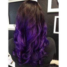Purple ombré. Using Pravana Vivids; violet.