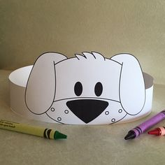 Puppy Paper Crown COLOR YOUR OWN - Printable