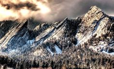 The Flatirons, near Boulder, ColoradoThis is what they look like today; we just got May snow!