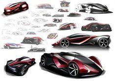 Ferrari F25 Superfast Sketches