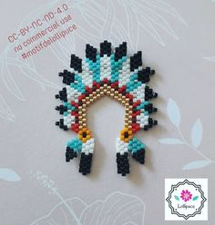 No photo description available. Beaded Earrings Native, Beaded Earrings Patterns, Native Beadwork, Native American Beadwork, Beading Patterns, Beaded Crafts, Beaded Ornaments, Wire Crafts, Miyuki Beads