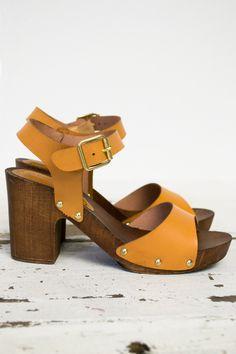 New Tan Clog Heels
