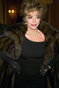 "furcoatvegan: "" What Sissy can't wait to be a lady of a certain age, in overdone clothes, lunching with the girls, behaving like a raging diva prima donna, paying your trainer extra to fuck you and. Fur Fashion, Fashion Models, V Drama, Dame Joan Collins, Diahann Carroll, St Joan, Nyc, Sexy Older Women, International Fashion"