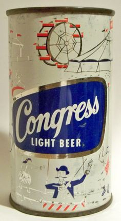 12oz Congress beer punch top can from the Haberle Brewing Co.