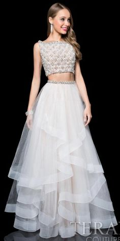 Embellished Bateau Two Piece Prom Dress by Terani Couture #edressme
