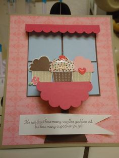 Create a Cupcake set and punch...love the punch art!
