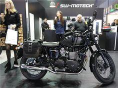 Um novo sistema de bagagem da SW-MOTECH, específico para motos de estilo retro