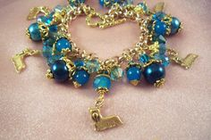 SKYE TERRIER - s4- Jewelry -USA Art -Free Gift -Charm Bracelet- Free Shipping - Handmade by Artisan - Last One by HOBBYHORSELADY on Etsy