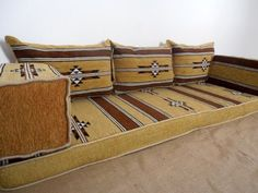 Yellow Color Floor Seating Arabic Seating Oriental Seating