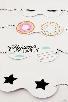Art And Chic - pyjama party printable