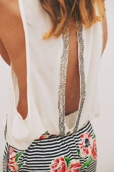 Flirty Open Back Top