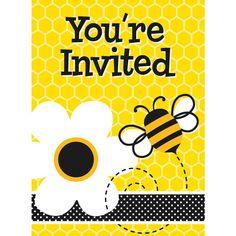 """8 """"Busy Bee"""" Einladungen"""