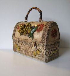 Vintage 70's Handmade Lunchbox purse Women's by jewelryandthings2