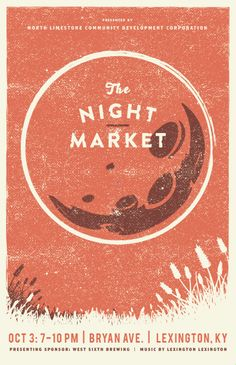 October Night Market poster