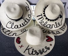 Personalised straw hat and hessian bag from The Personalised Hat ...