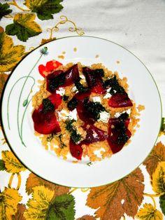 PaniKa w kuchni: Sałatka z soczewicy z serem kozim, burakiem i kope...