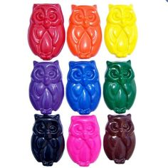 You can get these owl crayons in any color combination by ScribblerCrayons on etsy
