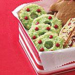 Easy Christmas Cookies: Coconut Christmas Wreaths