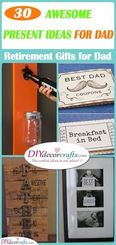 Are you in search of awesome present ideas for dad? We have collected 30 fantastic retirement gifts for dad for you to choose from! Presents For Dad, Diy Presents, Retirement Gifts For Dad, Happy Jar, Good Daddy, Feeling Under The Weather, Small Figurines, Different Words, Best Dad