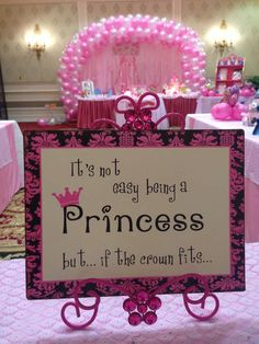 Princess theme Birthday Party Ideas | Photo 2 of 21 | Catch My Party