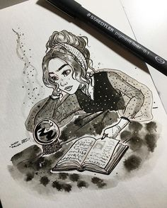 Instagram photo by juditmallolart - #inktober day 14!  Learning how to use a  it's not easy ✨