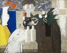 "alongtimealone: ""David Alan Redpath Michie, ""E. P. N. S. Teapot"", 1958–1959, Oil on hardboard, 71.1 x 91.5 cm, Glasgow Museums """
