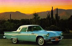 1957 Thunderbird- this is the color I would want one in,but I would take any color in a heartbeat!