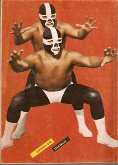 "Admittedly, I don't know that much about Lucha libre (meaning ""free wrestling"") culture. But what I do know is the costumes, colorful masks and buff bodies make for some interesting eye candy. These vintage magazine covers and pages from a Lucha libre glossy, I believe, prove my point nicely.   They sure as hell beat American-style wrestling getups, anyway!                            &nbsp    via Flashbak and h/t WFMU"