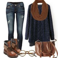 Casual first date outfit ideas? mati's closet о�енн�� одежда First Date Outfits, Komplette Outfits, Cute Fall Outfits, Fall Winter Outfits, Autumn Winter Fashion, Casual Outfits, First Date Outfit Casual, Fashion Outfits, Winter Wear