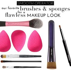 Smooth Operator: Our Favorite Brushes & Sponges For A Flawless Makeup Look   theglitterguide.com