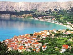 Explore some of Europes most stunning coastlines. Croatian town Baska is nestled on Krk Island, Croatia. Contact Paul, our Croatia Travel Specialist to plan your perfect holiday Visit Croatia, Croatia Travel, Dubrovnik, Travel Around The World, Around The Worlds, Black Magic Love Spells, Beautiful Sunrise, Travel Images, Where To Go