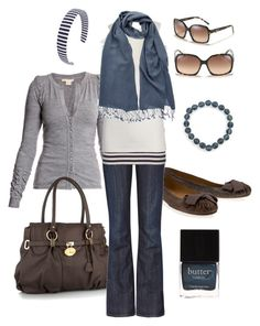 """""""brown and navy"""" by htotheb ❤ liked on Polyvore featuring American Apparel, Antonio Berardi, Maloles, J by Jasper Conran, Levi's Made & Crafted, French Connection, Juicy Couture, PASHMINA ART, Fendi and 1928"""