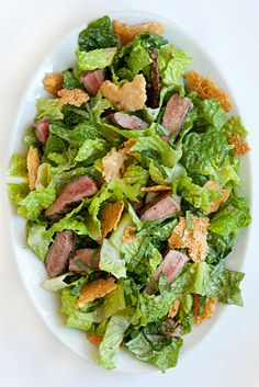 Steak Caesar Salad with Crisp Parmesan Shards