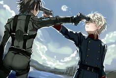 Aldnoah.Zero | Slaine Troyard Vs. Inaho Kaizuka | Anime | Fanart | SailorMeowMeow | Its a pity that this is how it ends