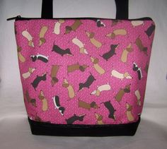 Unique Pink Polka Dot Dachshund  Wiener Dog  by OscarsCreations, $60.00