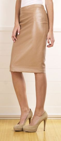 Robert Rodriguez skirt OR #WbyWorth Quilted Leather A Line Skirt! Same look, same quality, softer price$