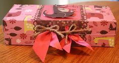 Tutorial for gift box.  Easy, and great for packaging cookies, candies, gifts, etc..