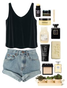 Lemonade by annierowe on Polyvore featuring MANGO, Levi's, NARS Cosmetics, Stila, Chanel, philosophy, Davines and Garden Trading