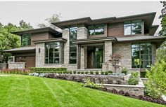 David Small Designs is an award winning custom home design firm. See a portfolio of our Modern Landscape project Dream House Exterior, Dream House Plans, Dream Home Design, Modern House Design, Modern Architecture Design, Contemporary House Plans, Luxury Homes Dream Houses, House Layouts, House Goals