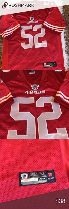 MEN'S SF 49ERS PATRICK WILLIS JERSEY ONFIELD MEN'S SF 49ERS PATRICK WILLIS JERSEY BY REEBOK SIZE 48 ONFIELD EQUIPMENT. Reebok Other