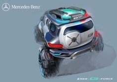 Mercedes-Benz Ener-G-Force Concept Design Sketch