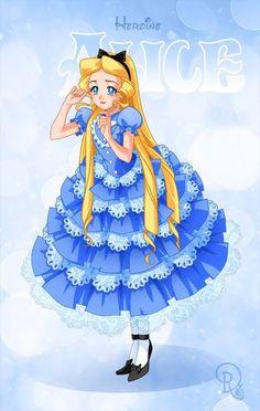 Sailor Heroine Alice via the Disney Limited Edition Deluxe Collector's Dolls by Drachea Rannak Disney Pixar, Arte Disney, Disney And Dreamworks, Disney Girls, Disney Love, Disney Magic, Disney Characters, Sailor Princess, Disney Princess Art