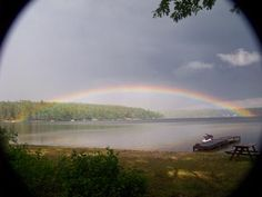 YOU BET I WILL RE PIN THIS i GREW UP ON THE UPPER LAKE! Rainbow Over Lower Suncook Lake in Center Barnstead, NH