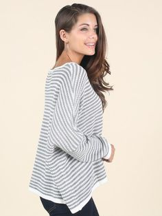 bd9a86498e Altar d State Step Out Sweater Loose Sweater