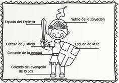 recursos cristianos para niños, devocionales, lección bíblica, la armadura, efesios