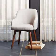 Saddle Dining Chairs   West Elm   need to find comfy stylish dining chairs for breakfast area