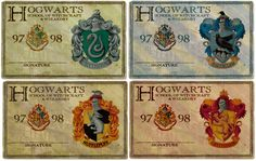 Hogwarts House ID cards  --  Everything Harry Potter : Photo